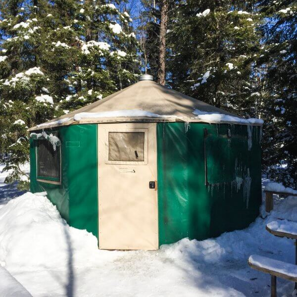 Windy Lake Ontario Yurts in Winter