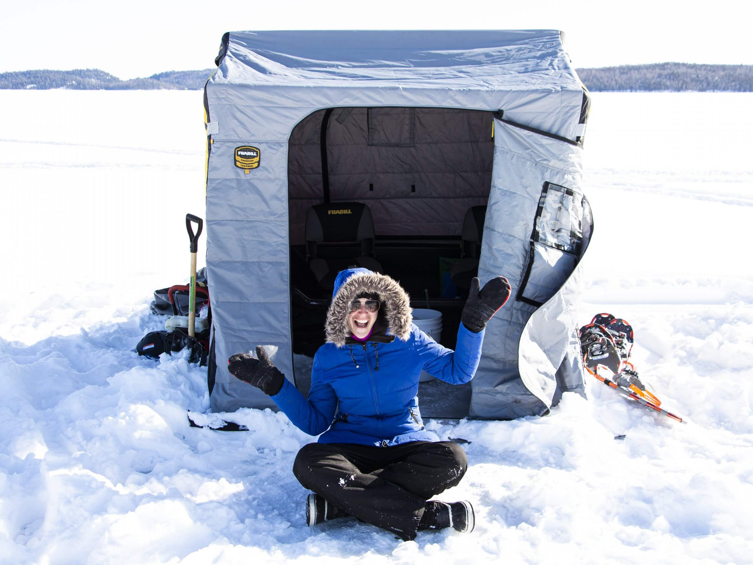 Winter Weekend at Windy Lake Provincial Park Welcome to Ice Fishing.LG