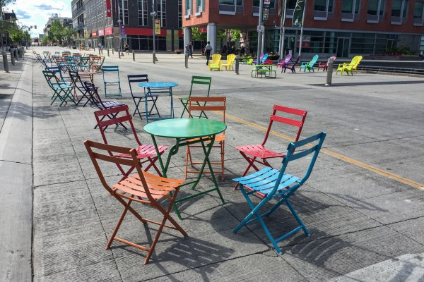 Downtown Kitchener Empty Chairs