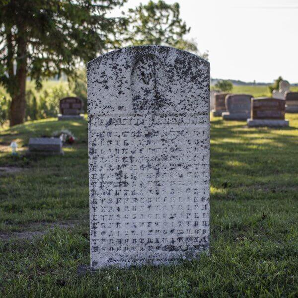 Ontario's Cryptic Gravestone created by Samuel Bean