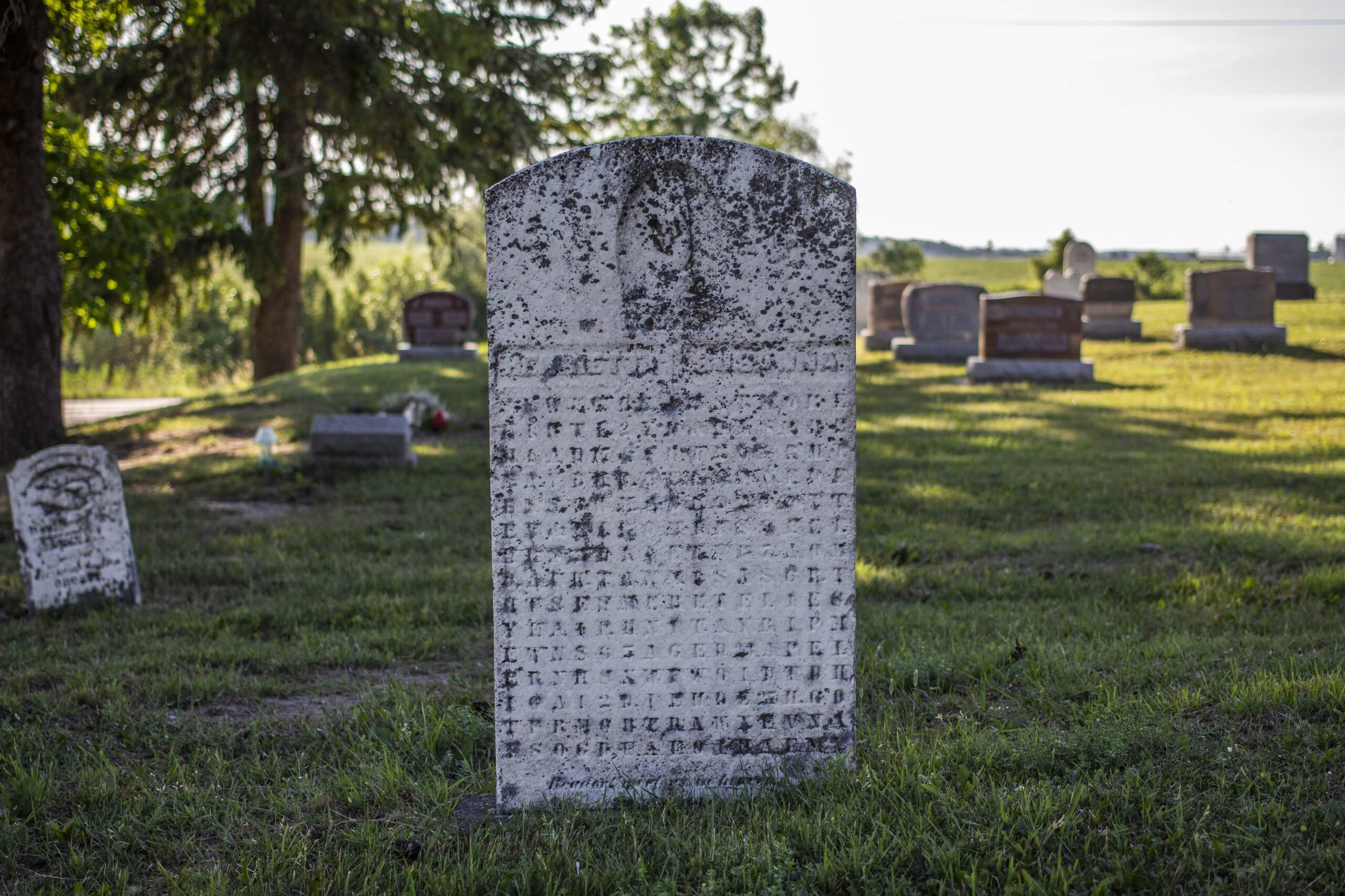 Ontario's Cryptic Gravestone created by Samuel Bean